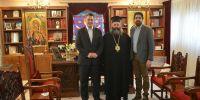 Συνάντηση Μητροπολίτη Λαγκαδά Ιωάννη  με τον Περιφερειάρχη Κεντρικής Μακεδονίας Απ. Τζιτζικώστα