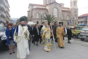 ΙΕΡΟΥΡΓΗΣΕ Ο ΜΗΤΡΟΠΟΛΙΤΗΣ ΚΟΡΙΝΘΟΥ Κορυφώθηκαν οι εκδηλώσεις για τη μνήμη του Αγίου Βλασίου στο Ξυλόκαστρο