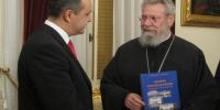 Στον Αρχιεπίσκοπο Κύπρου, ο Υπουργός Μακεδονίας και Θράκης