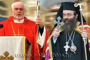 """Ο Καθολικός Αρχιεπίσκοπος Νικόλαος, για την απαράδεκτη σπεριφορά του Χίου Μάρκου : """"Οφείλουμε να γεφυρώσουμε το σχίσμα"""""""