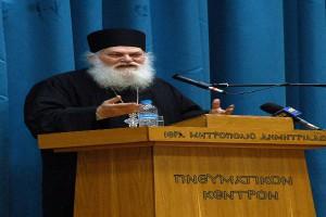 Πλήθη πιστών στην εμπνευσμένη ομιλία του Γέροντος Εφραίμ του Βατοπαιδινού στο Βόλο