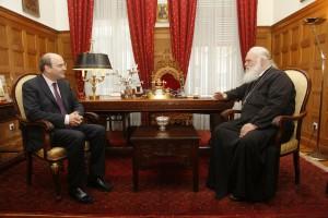 Αρχιεπίσκοπος και Κωστής Χατζηδάκης σύμφωνησαν να ενισχυθεί το κοινωνικό έργο της Εκκλησίας