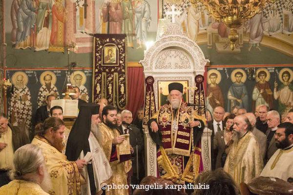 """Ο Κορωνείας Παντελεήμων στον Ι. Ν. Αγίου Πολυκάρπου: """"Η Εκκλησία δεν είναι ούτε σώμα ακέφαλο, ούτε κεφαλή ασώματος"""""""