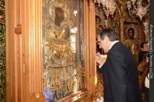 Προσκυνητής της Παναγίας Πορταΐτισσας Ι. Μ. Ιβήρων,ο Αντ.Σαμαράς