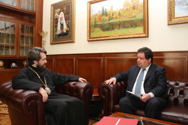 Ο Πρέσβης της Κύπρου στον Μητροπολίτη Βολοκολάμσκ