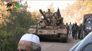 AL QAIDA FLAG ON TANK