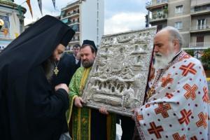 Υποδοχή Ιεράς Εικόνος της Αγίας Ζώνης στον Ι.Ν. Ευαγγελιστρίας Πειραιώς