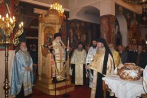 Ο εσπερινός της εορτής του Αγίου Αλεξίου στο Αίγιο