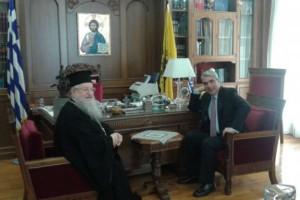 Επισκέψεις Υφυπουργού στους Μητροπολίτες Θεσσαλονίκης και Νεαπόλεως