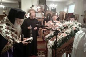 Η Α΄ Στάση των Χαιρετισμών της Παναγίας στην Ι.Μ. Γλυφάδας