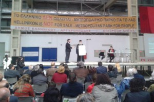 Ο Γλυφάδας Παύλος σε εκδήλωση κατά της τσιμεντοποίησης