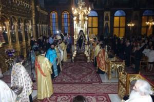 Ο Ναυπάκτου Ιερόθεος στην Ι.Μ. Λαρίσης