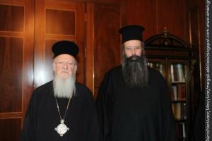O νέος Μητροπολίτης Κίτρους στον Οικουμενικό Πατριάρχη