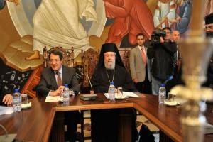 Ο Πρόεδρος Αναστασιάδης ενημέρωσε την Ιερά Σύνοδο για το Κυπριακό