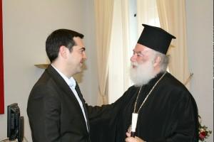 Συνάντηση του Πατριάρχη Αλεξανδρείας με τον Αλέξη Τσίπρα (ΦΩΤΟ)
