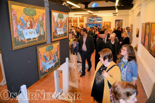 You are currently viewing Μεσολόγγι: Εγκαίνια έκθεσης βυζαντινής Αγιογραφίας