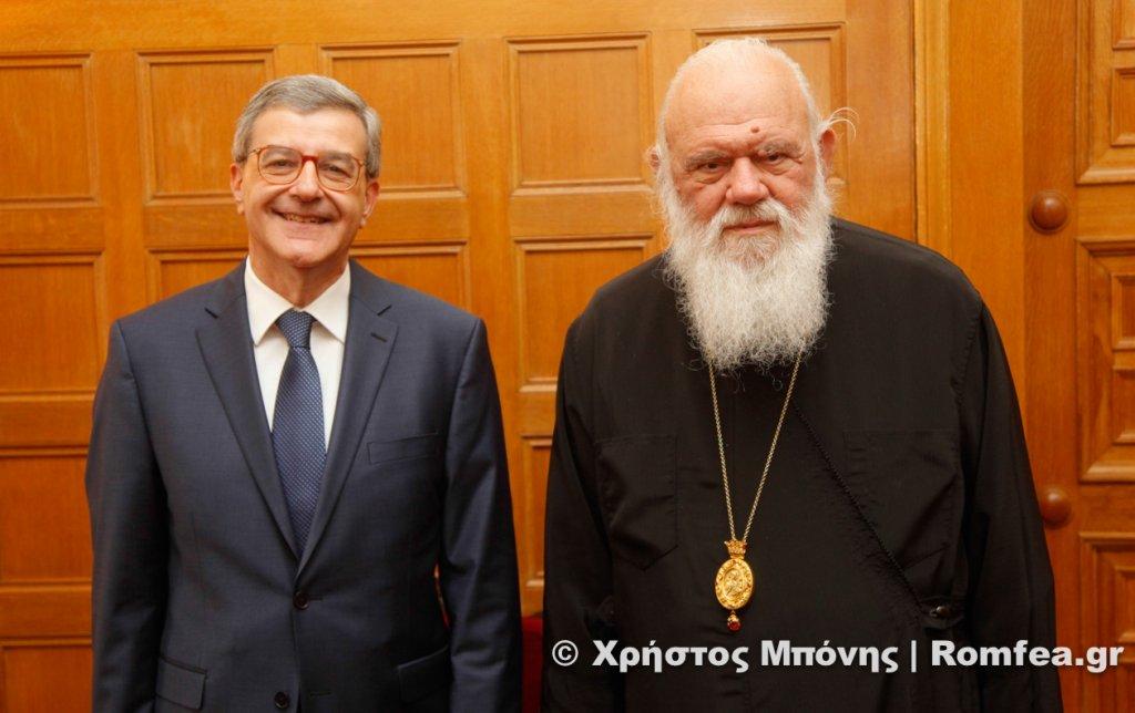 You are currently viewing Στον Αρχιεπίσκοπο Ιερώνυμο ο Κωνσταντίνος Χολέβας