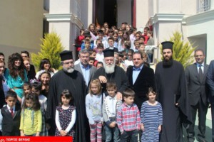 Ένα μεσημέρι μαζί με τα παιδιά πέρασε ο Αρχιεπίσκοπος