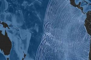 Τρομακτικό βίντεο -Πώς το τσουνάμι που δημιούργησε ο σεισμός της Χιλής εξαπλώθηκε σε όλο τον Ειρηνικό Ωκεανό [βίντεο]