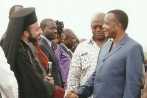 Συνάντηση Μπραζαβίλ Παντελεήμονα με τον Πρόεδρο του Κονγκο