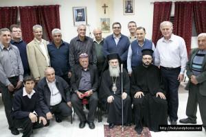 Επίσκεψη Πατριάρχη Ιεροσολύμων στην Κοινότητα Αμπού-Σναν