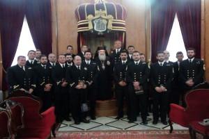 """Αντιπρόσωποι της Φρεγάτας """"Σαλαμίς"""" στο Πατριαρχείο Ιεροσολύμων"""