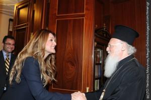 Η Νατάσα Θεοδωρίδου στο Οικουμενικό Πατριαρχείο