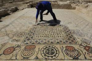Ανακαλύφθηκε βυζαντινό μωσαϊκό μοναστηριού στην έρημο του Νεγκέβ