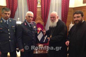 Ο νέος Αρχηγός της Αστυνομίας στον Αρχιεπίσκοπο