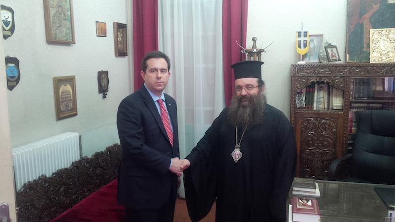 You are currently viewing Ο Υφυπουργός Ανάπτυξης στον Μητροπολίτη Χίου