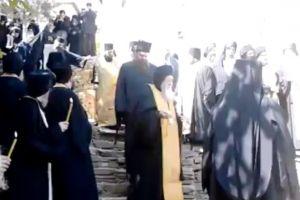 Από την κηδεία του γέροντα Μωυσή
