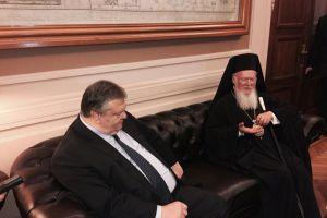 Θερμή συνάντηση  Βενιζέλου με Οικουμενικό Πατριάρχη στο ΥΠΕΞ (ΦΩΤΟ)