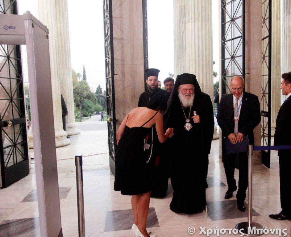 You are currently viewing Ο Αρχιεπίσκοπος στην τελετή λήξης της Ελληνικής Προεδρίας