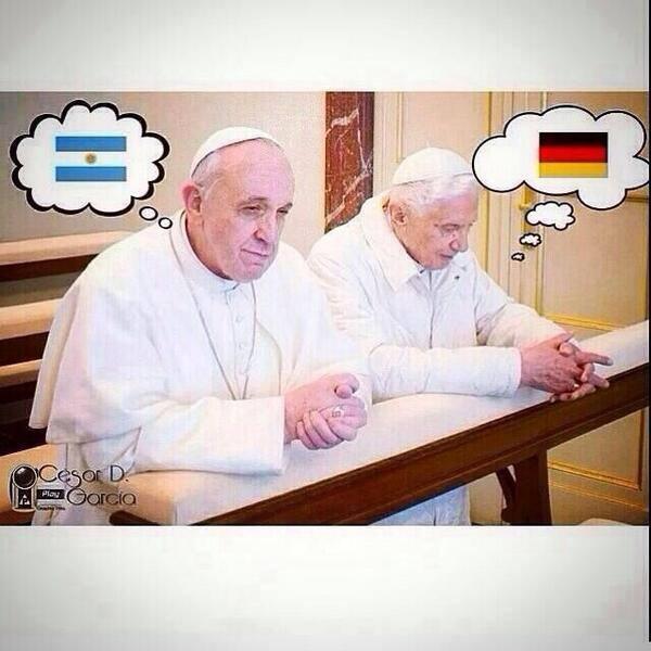 Πάπας εναντίον Πάπα στο τελικό του Μουντιάλ