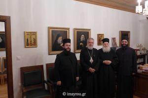 Ο Μητροπολίτης Σύρου στο ΑΓΙΟ Όρος και στην  Ι.Μ. Βατοπαιδίου