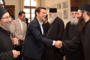 Οι Αγιορείτες υποδέχθηκαν τον Αλέξη Τσίπρα
