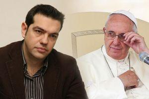 Ο Αλέξης Τσίπρας στον Πάπα Φραγκίσκο