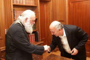 Επίσκεψη Γιάννη Αμανατίδη στον Αρχιεπίσκοπο