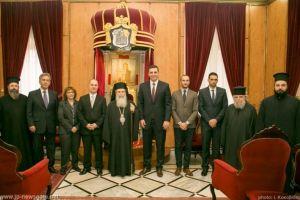 Ο Υπουργός Δημόσιας Τάξης Βασ.Κικίλιας στο Πατριαρχείο Ιεροσολύμων (BINTEO)