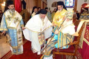 Χειροτονία του Επισκόπου Βερενίκης Χρυσοστόμου από τον Πατριάρχη Αλεξανδρείας