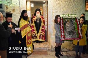 Εσπερινός για την Aγία Βαρβάρα στο Τρίστρατο Αργολίδας