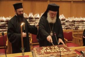 Πλήθος πολιτικών στην πίτα της Αρχιεπισκοπής-Κοπή πίτας και στη Σύνοδο (ΦΩΤΟ)