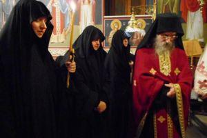 Ρασοφορία δόκιμης μοναχής στην μονή αγίου Ιωάννου Βερίνου