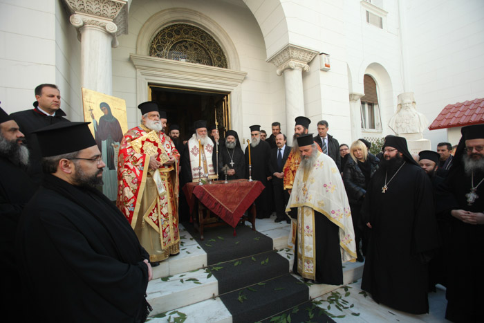 You are currently viewing Με μεγαλοπρέπεια και κατάνυξη η εορτή της Αγίας Φιλοθέης στην Αθήνα