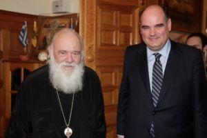 Ο Βουλευτής Θεόδωρος Φορτσάκης στον Αρχιεπίσκοπο
