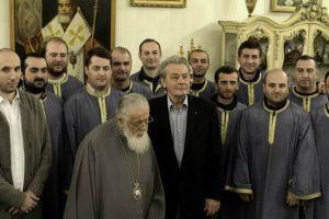 Ο Αλέν Ντελόν στον Πατριάρχη Γεωργίας