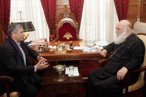 Ο Πρόεδρος του Ιατρικού Συλλόγου Αθηνών στον Αρχιεπίσκοπο