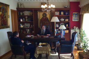 Ο Αστυνομικός Διευθυντής Πειραιά στον Μητροπολίτη Σεραφείμ