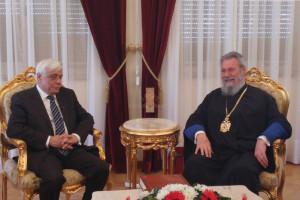 Ο Πρόεδρος της Δημοκρατίας στον Αρχιεπίσκοπο Κύπρου