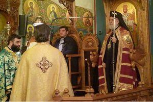 Ο Σεβ. Σύρου Δωρόθεος B στον Αγιο Γεώργιο Ζωγράφου για την Γ´ Στάση Χαιρετισμών